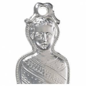 Ex voto bambino in fasce argento 925 o metallo 15 cm s2