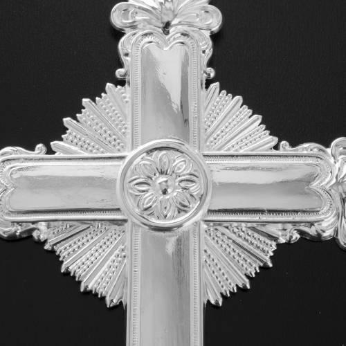 Ex voto Croce votiva liscia con raggiera 14x22,5 cm s3