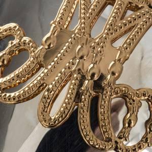 Ex-voto en coeur couronne 3 tours filigrane 34x50 cm s13