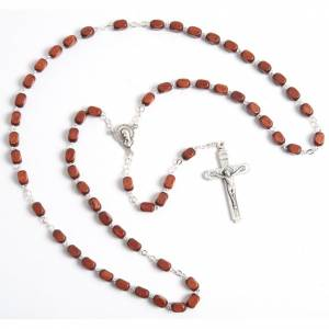 Faceted coconut-effect beads rosary s4