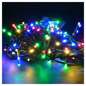 Christmas lights: Fairy lights 120 mini LED, multicoloured, for outdoor/indoor use