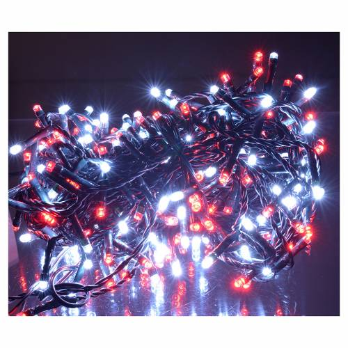 Fairy lights 300 LED, red and white, for outdoor/indoor use, programmable s2