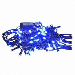 Christmas lights: Fairy lights 96 mini LED, blue, for outdoor/indoor use, programm