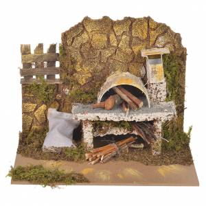 Fireplaces and ovens: Fake oven for nativities measuring 14x20x12cm
