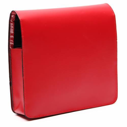 Farde pour partitions chants cuir rouge s3