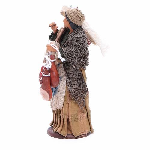 Femme avec charcuterie 14 cm crèche Naples s2