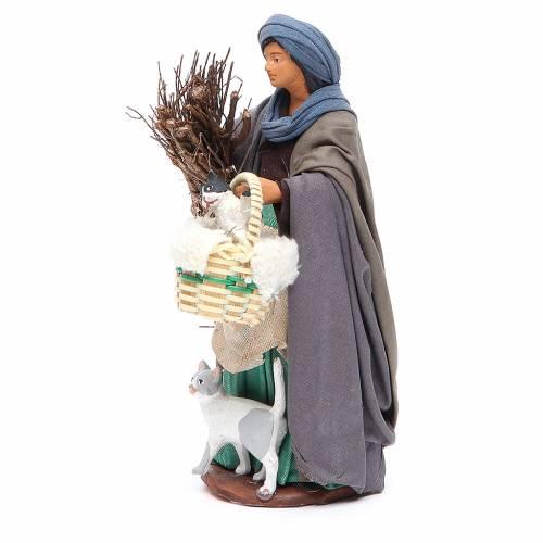 Femme avec chats 14 cm crèche napolitaine s2