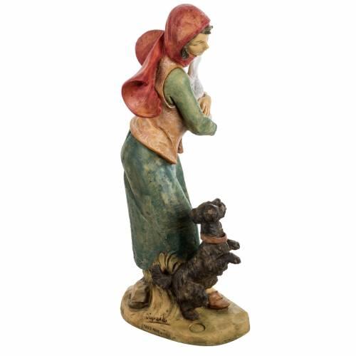 Femme avec chien crèche noel 52 cm Fontanini s5