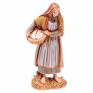 Crèche Moranduzzo: Femme avec panier 6,5 cm Moranduzzo vêtements historiques