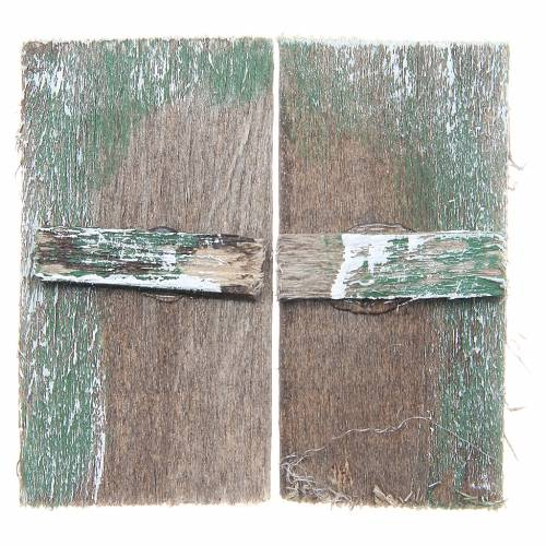 Fenêtre en bois 5,5x3 cm rectangulaire set 2 pcs s3