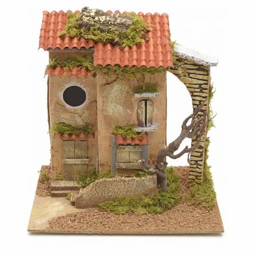 Ferme avec arbre en miniature pour crèche 25x21x16 s1