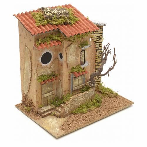 Ferme avec arbre en miniature pour crèche 25x21x16 s2