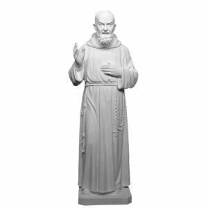 Fiberglas Statuen: Fiberglas Pater Pio weiß 175 cm