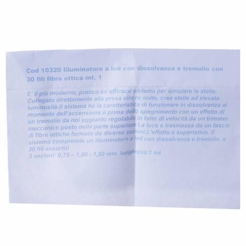 Fibra ottica 1m presepe illuminatore led dissolvenza tremolio s4