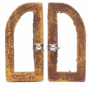 Ringhiere, inferriate, porte: Finestra ad arco  5 cm legno set 2 pz per presepe