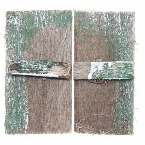 Finestra in legno cm 5,5x3 rettangolare set 2 pz s3