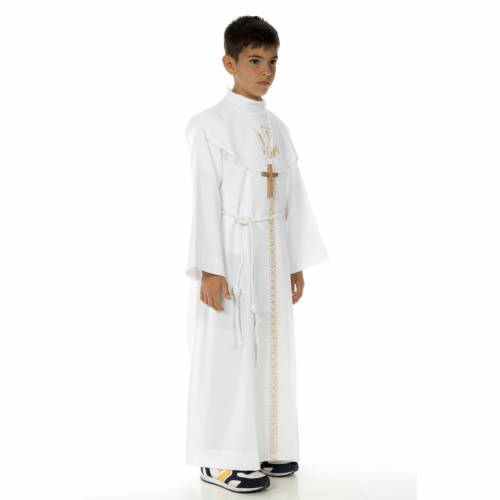 First Communion alb, for boy, chalice s3