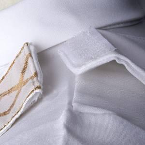 First communion alb for girl scapular golden edges s7