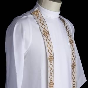 First communion alb for girl scapular golden edges s5
