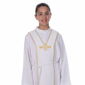 First Communion alb, with embroidered stole s6