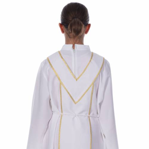 First Communion alb, with embroidered stole s5