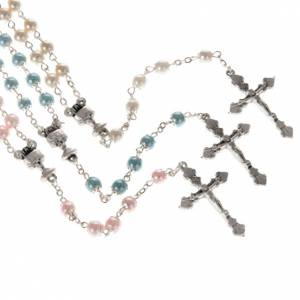 First Communion rosary with pearly beads (6 mm) s1
