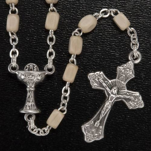 First Communion set with Cross, Rosary and Rosary box s3