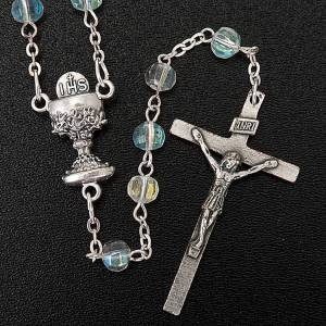 Imitation pearl rosaries: First Communion transparent beads rosary