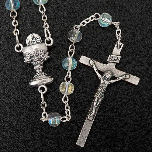 First Communion transparent beads rosary s4