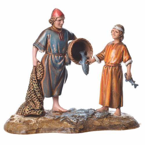 Fishermen, Arabian style nativity figurines, 10cm Moranduzzo s1