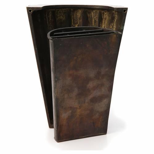 Flower vase bronzed brass, striped s4