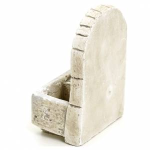 Fontaine avec mur en arc pour crèche, plâtre s3