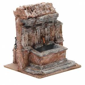 Fontaine crèche dans un rocher 18x16x16 cm s3