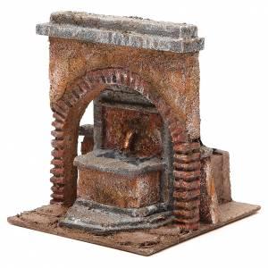 Fontaine électrique crèche avec arc 18x16x16 cm s2