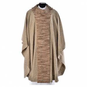 Chasubles: Franciscan chasuble with beige scapular