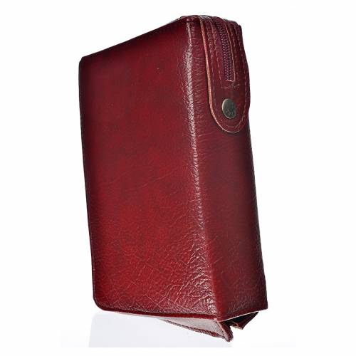 Funda Biblia CEE grande burdeos simil cuero Trinidad s2