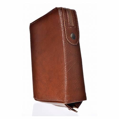 Funda Biblia CEE grande marrón simil cuero Pantocrátor s2