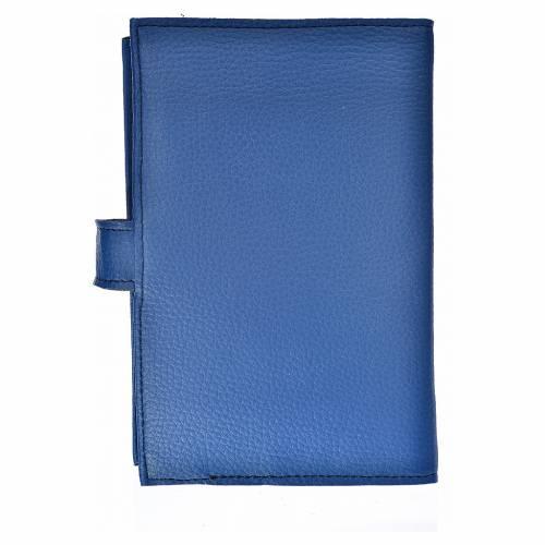 Funda Biblia CEE grande simil cuero Virgen Kiko azul s2