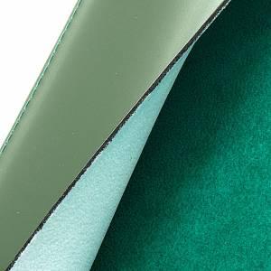 Funda Leccionario verde piel verdadera estampa dorado s3