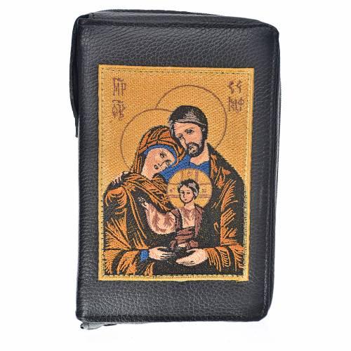 Funda lit. de las horas 4 vol. negro cuero Sagrada Familia s1