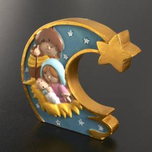 Heilige Familie: Geburt auf Mond gemaltes Harz