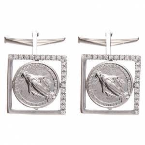 Gemelli da polso: Gemelli camicia argento 800 Madonna Miracolosa 1,7x1,7 cm