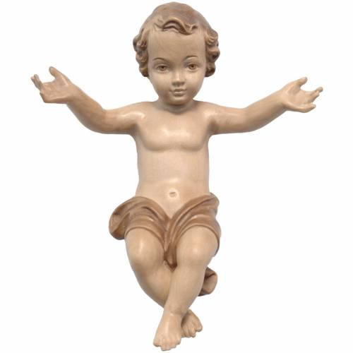 Gesù Bambino legno Valgardena fin. Multipatinata s1