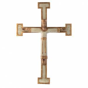 Crocifissi in pietra: Cristo Sacerdote Re bianco croce bianca