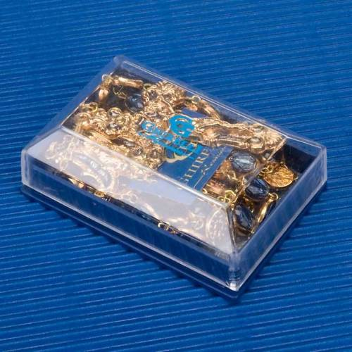 Ghirelli golden rosary blue medal beads s3