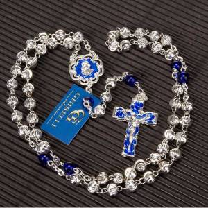 Ghirelli rosary blue and silver beads s4