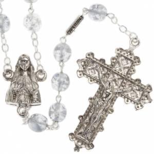 Ghirelli rosary, grey enamelled glass, Lourdes grotto 8mm s1