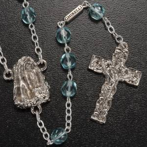 Ghirelli outlet rosary beads: Ghirelli rosary Holy Lourdes Grotto, light blue