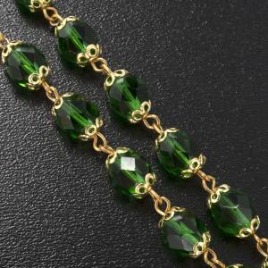 Ghirelli rosary, Knock, in green semi-crystal 7mm s7