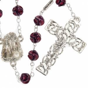 Ghirelli rosary Lourdes Grotto, maroon 8mm s1